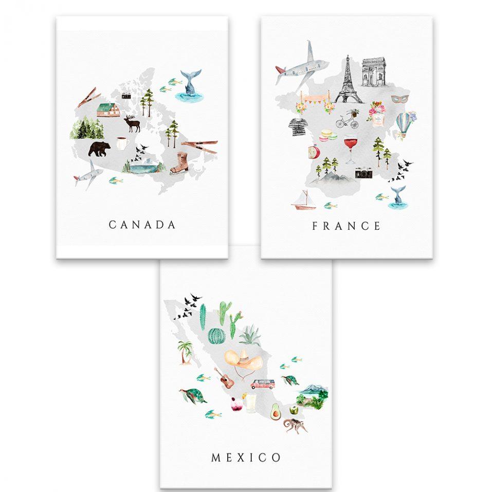 Mapy krajín