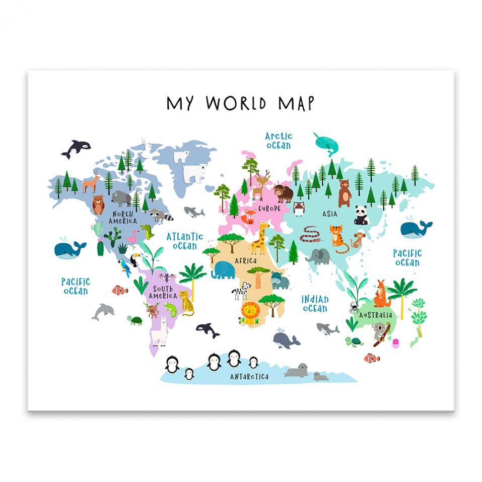 Mapa sveta - zvieracia 2