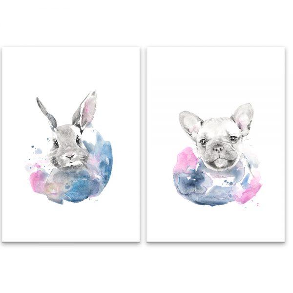 Akvarel zvieratká