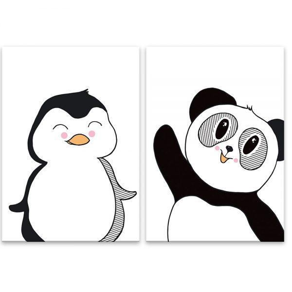 Čierno biele zvieratká