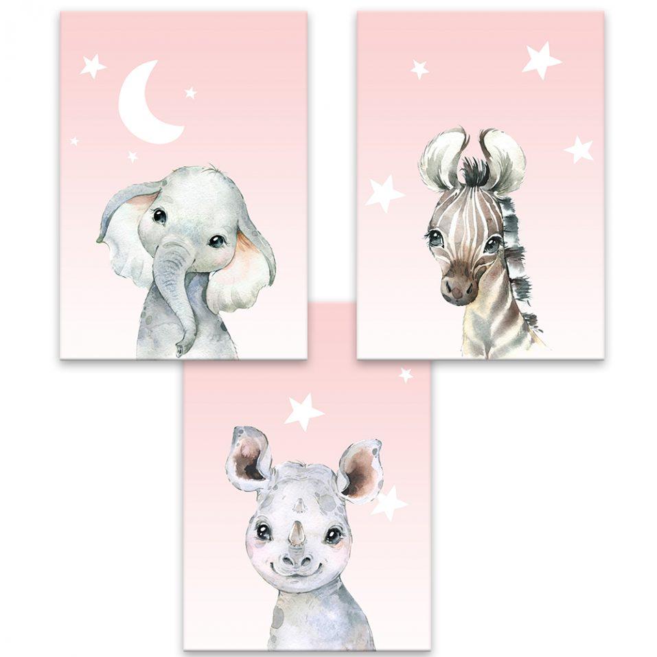 Baby animals - ružová