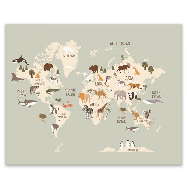 Mapa sveta - zvieracia 1